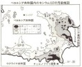 ベラルーシ共和国汚染地図