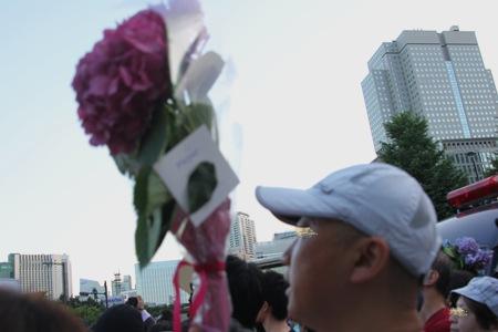 首相官邸前抗議デモ