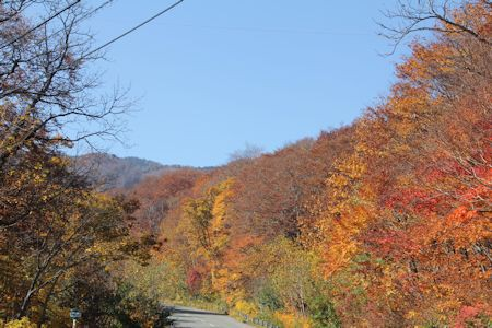 松川温泉の紅葉